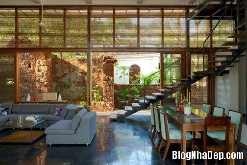 file 011 Ngôi nhà đầy phong cách với nội thất đá thô tại  Ấn Độ
