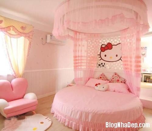 file 01130 Trang trí phòng ngủ dễ thương với mèo Kitty