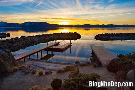 file 01145 Biệt thự gỗ ven hồ Tahoe của tỷ phú Larry Ellison