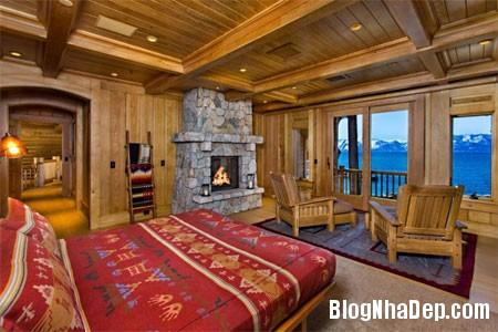 file 01431 Biệt thự gỗ ven hồ Tahoe của tỷ phú Larry Ellison