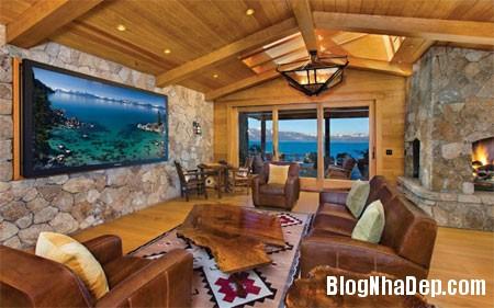 file 01527 Biệt thự gỗ ven hồ Tahoe của tỷ phú Larry Ellison