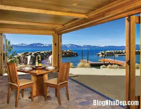 file 01819 Biệt thự gỗ ven hồ Tahoe của tỷ phú Larry Ellison