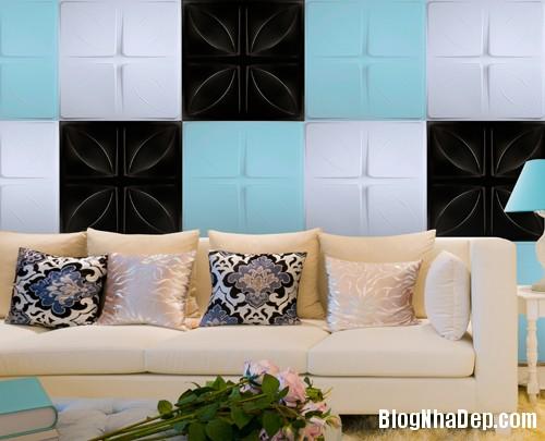 gach op dep 2014 Mẫu nội thất đẹp với tấm ốp tường 3D công nghệ Hàn Quốc
