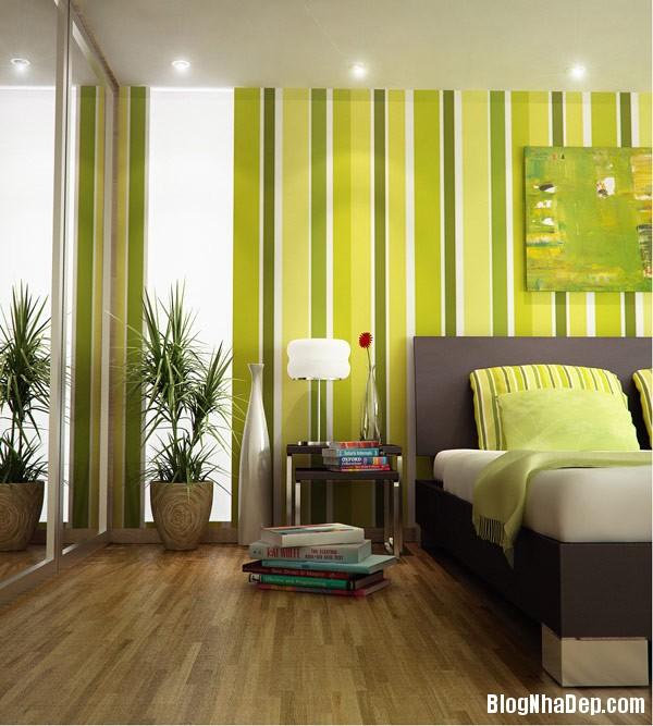 green bold striking striped Trang trí nội thất nhà bằng họa tiết kẻ sọc