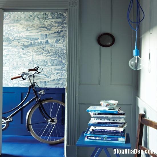 khi cap doi trang xanh duong dai nao can nha cua ban Không gian nhà ở thanh lịch sang trọng với 2 tông màu trắng   xanh