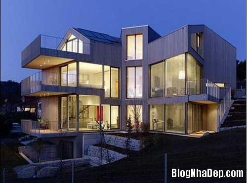 khong gian ly tuong 1 Ngôi nhà thân thiện với thiên nhiên ở Thụy Sĩ