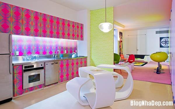 khong gian sinh dong2 Thiết kế nội thất kết hợp nhiều màu sắc nổi bật