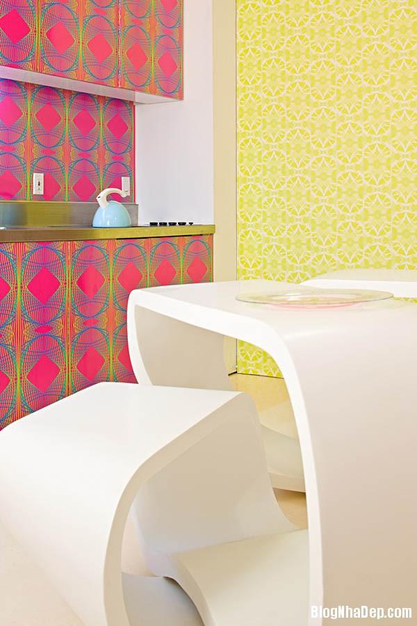khong gian sinh dong3 Thiết kế nội thất kết hợp nhiều màu sắc nổi bật