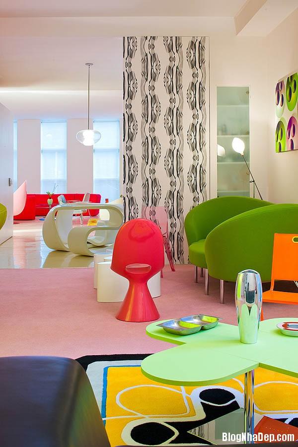 khong gian sinh dong5 Thiết kế nội thất kết hợp nhiều màu sắc nổi bật