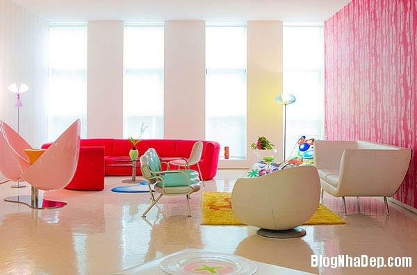 khong gian sinh dong8 Thiết kế nội thất kết hợp nhiều màu sắc nổi bật