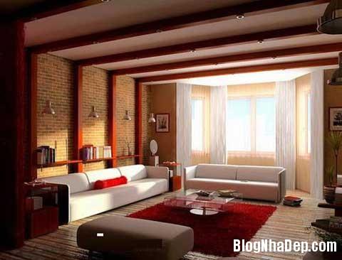 lat tran cho nha dep 1 Trang trí cho ngôi nhà đẹp mộc mạc với gạch trần