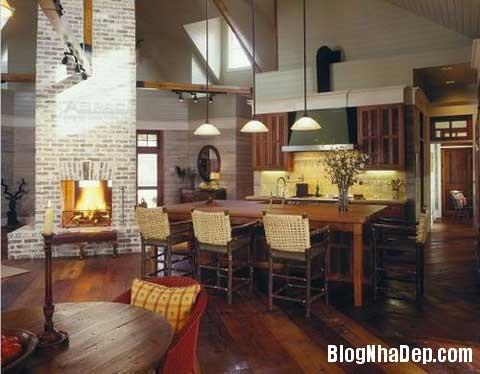 lat tran cho nha dep 10 Trang trí cho ngôi nhà đẹp mộc mạc với gạch trần