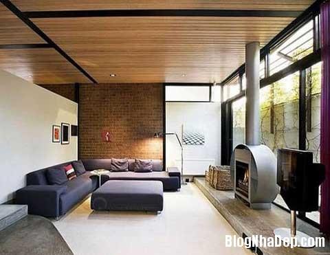 lat tran cho nha dep 3 Trang trí cho ngôi nhà đẹp mộc mạc với gạch trần