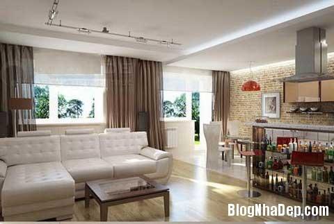 lat tran cho nha dep 4 Trang trí cho ngôi nhà đẹp mộc mạc với gạch trần