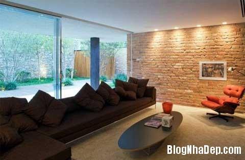 lat tran cho nha dep 5 Trang trí cho ngôi nhà đẹp mộc mạc với gạch trần