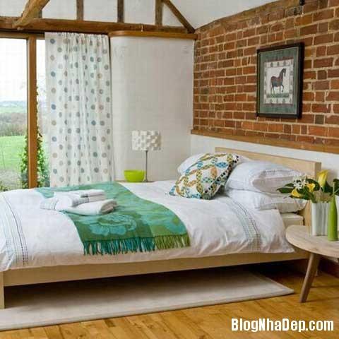 lat tran cho nha dep 6 Trang trí cho ngôi nhà đẹp mộc mạc với gạch trần