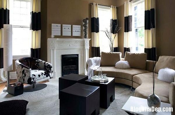 living area stripes Trang trí nội thất nhà bằng họa tiết kẻ sọc
