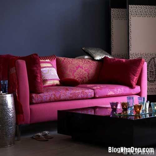 mau sac phong khach lang man 2  Kết hợp màu sắc ấn tượng cho phòng khách