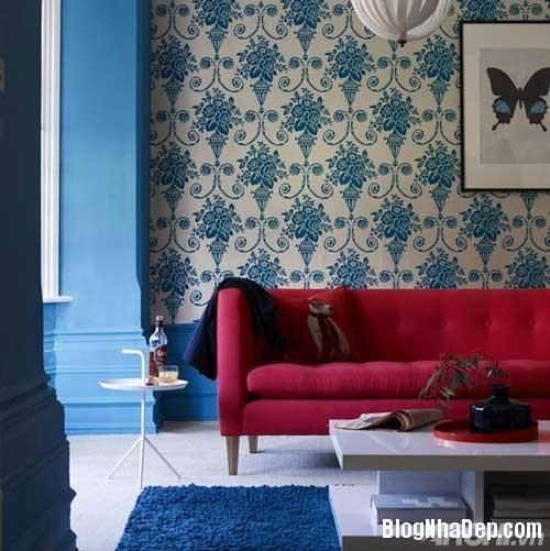 mau sac phong khach lang man 3  Kết hợp màu sắc ấn tượng cho phòng khách