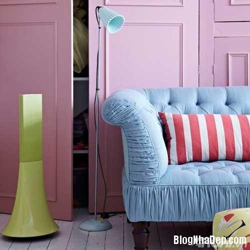 mau sac phong khach lang man 6  Kết hợp màu sắc ấn tượng cho phòng khách