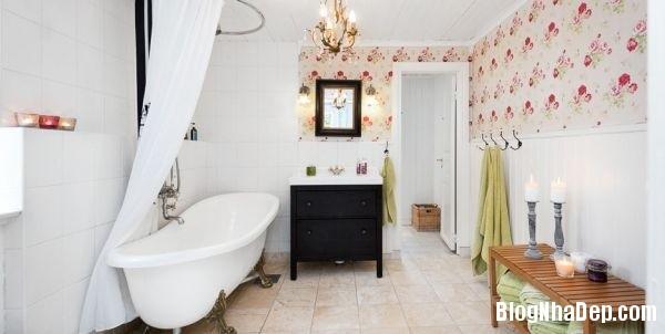 ngoai than 1 4578f Ngôi nhà tinh tế lãng mạn với nội thất vintage và tông màu xanh   trắng