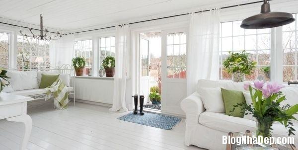 ngoai thanh 1 4578f Ngôi nhà tinh tế lãng mạn với nội thất vintage và tông màu xanh   trắng