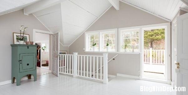ngoai thanh 10 4578f Ngôi nhà tinh tế lãng mạn với nội thất vintage và tông màu xanh   trắng