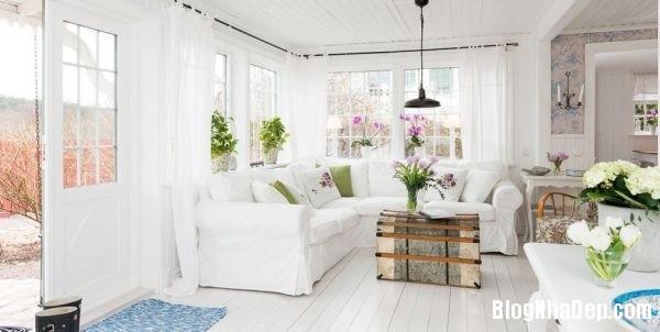 ngoai thanh 2 4578f Ngôi nhà tinh tế lãng mạn với nội thất vintage và tông màu xanh   trắng