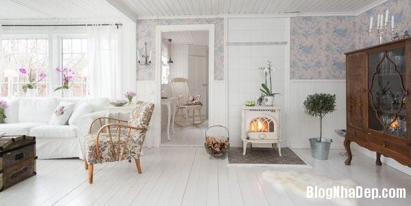 ngoai thanh 3 4578f Ngôi nhà tinh tế lãng mạn với nội thất vintage và tông màu xanh   trắng