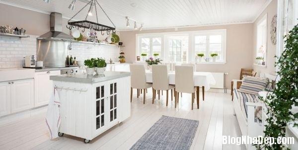 ngoai thanh 5 4578f Ngôi nhà tinh tế lãng mạn với nội thất vintage và tông màu xanh   trắng