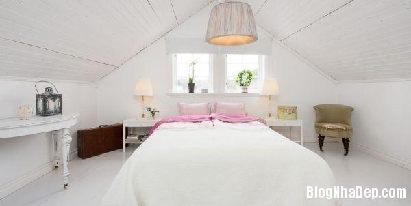 ngoai thanh 8 4578f Ngôi nhà tinh tế lãng mạn với nội thất vintage và tông màu xanh   trắng