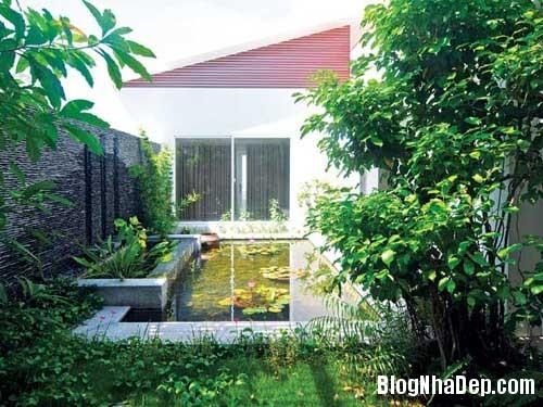 ngoi nha nhieu goc xanh1 Ngôi nhà thân thiện với thiên nhiên