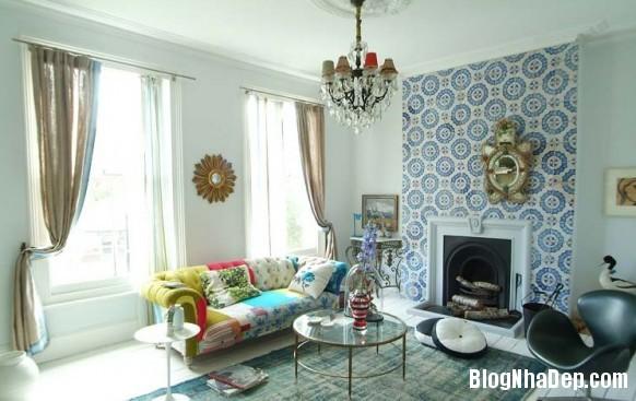 nha dep z1 Ngôi nhà với không gian nội thất đẹp ở Anh