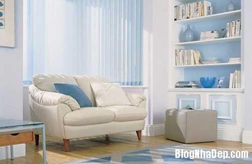 nha dep1 Dịu dàng tô điểm cho ngôi nhà với sắc xanh