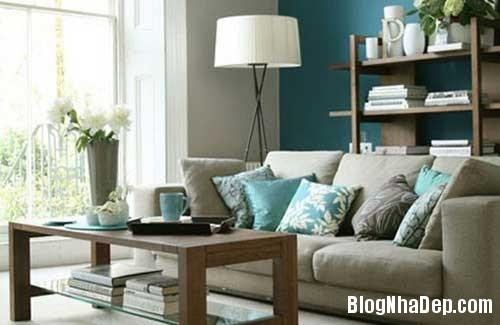 nha dep5 Dịu dàng tô điểm cho ngôi nhà với sắc xanh