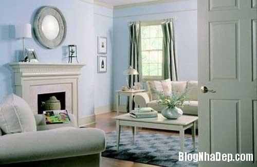 nha dep7 Dịu dàng tô điểm cho ngôi nhà với sắc xanh