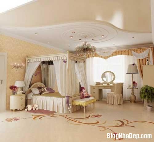 noi that phong ngu9  10 Mẫu phòng ngủ phong cách cổ điển dành cho bé gái