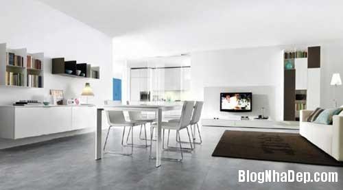 phong khach phong bep 11 Kết hợp không gian phòng khách và phòng ăn