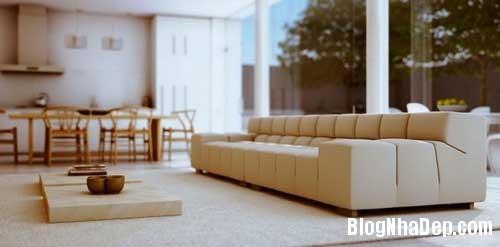 phong khach phong bep 2 Kết hợp không gian phòng khách và phòng ăn