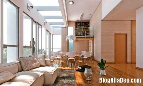phong khach phong bep 5 Kết hợp không gian phòng khách và phòng ăn