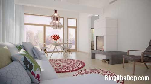 phong khach phong bep 6 Kết hợp không gian phòng khách và phòng ăn