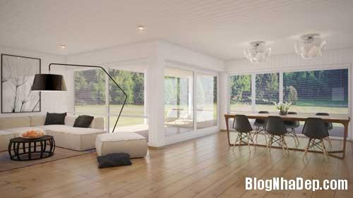 phong khach phong bep 8 Kết hợp không gian phòng khách và phòng ăn