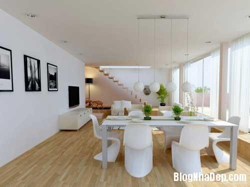 phong khach phong bep 9 Kết hợp không gian phòng khách và phòng ăn
