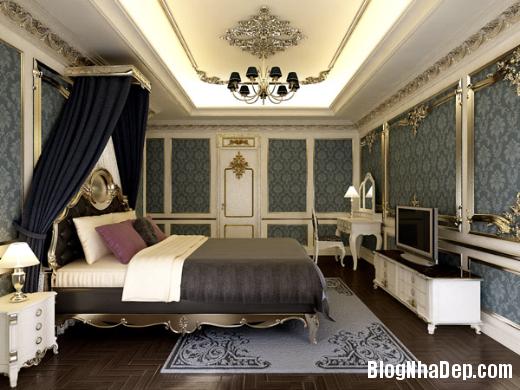 phong ngu 1 Thiết kế phòng ngủ theo phong cách cổ điển