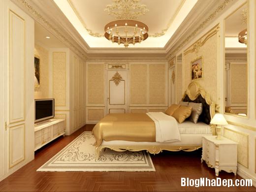 phong ngu 2 Thiết kế phòng ngủ theo phong cách cổ điển