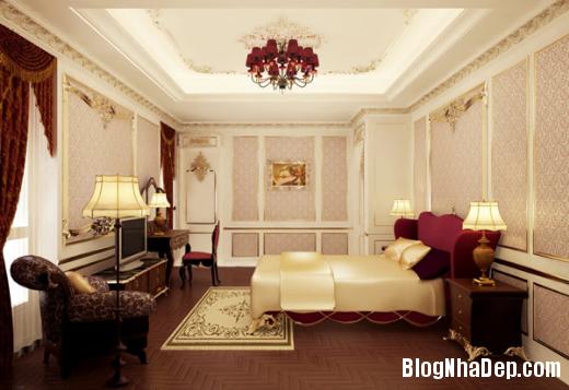phong ngu 4 Thiết kế phòng ngủ theo phong cách cổ điển