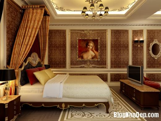 phong ngu 5 Thiết kế phòng ngủ theo phong cách cổ điển