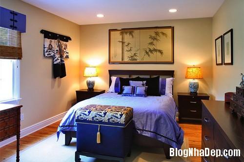 phong ngu chau a 4 Mang phong cách Á Đông vào phòng ngủ