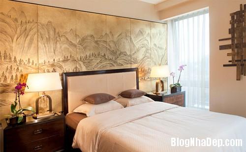 phong ngu chau a 6 Mang phong cách Á Đông vào phòng ngủ