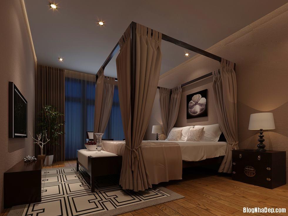 phong ngu chau a 8 Mang phong cách Á Đông vào phòng ngủ